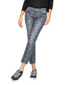 Black Orchid Brooklyn Mid-Rise Straight Leopard-Print Jeans