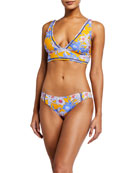 Letarte Ibiza Floral Bikini Swim Top and Matching