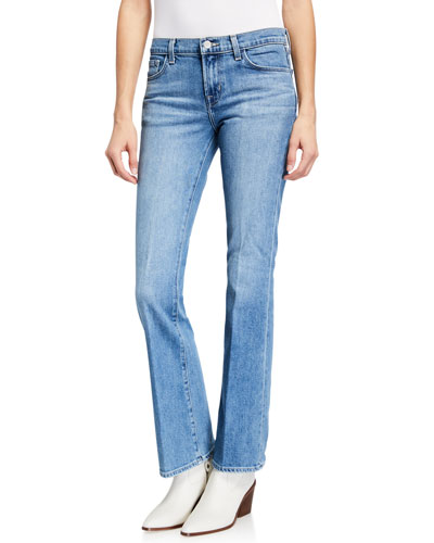 Sallie Mid-Rise Boot-Cut Jeans