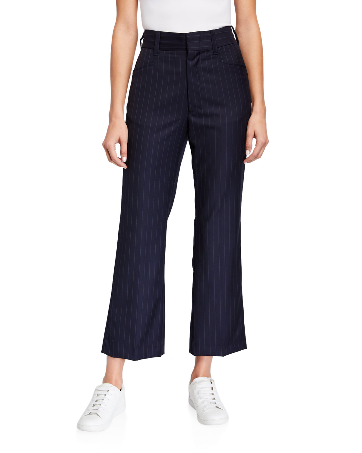 Re/done Pants 70S PINSTRIPED WOOL TROUSERS