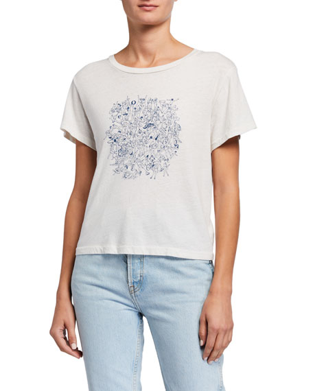 RE/DONE Naked People Short-Sleeve Graphic Tee