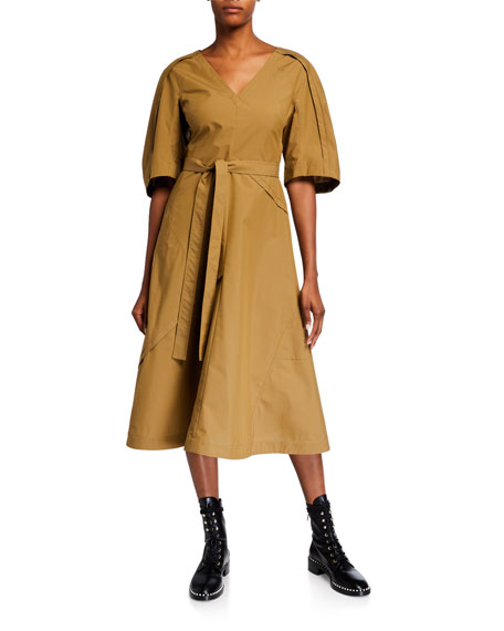 3.1 Phillip Lim Balloon-Sleeve Midi Dress