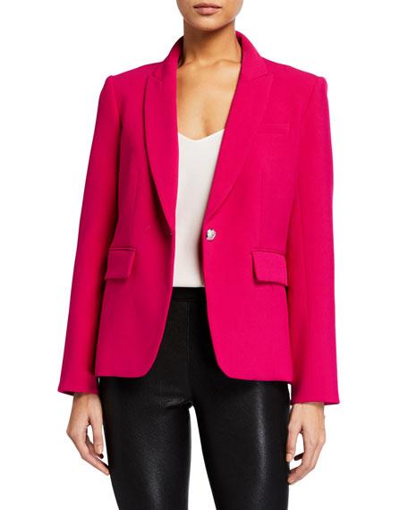 Veronica Beard Cutaway Single-Button Jacket