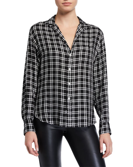 Frank & Eileen Long-Sleeve Check Button-Down Top