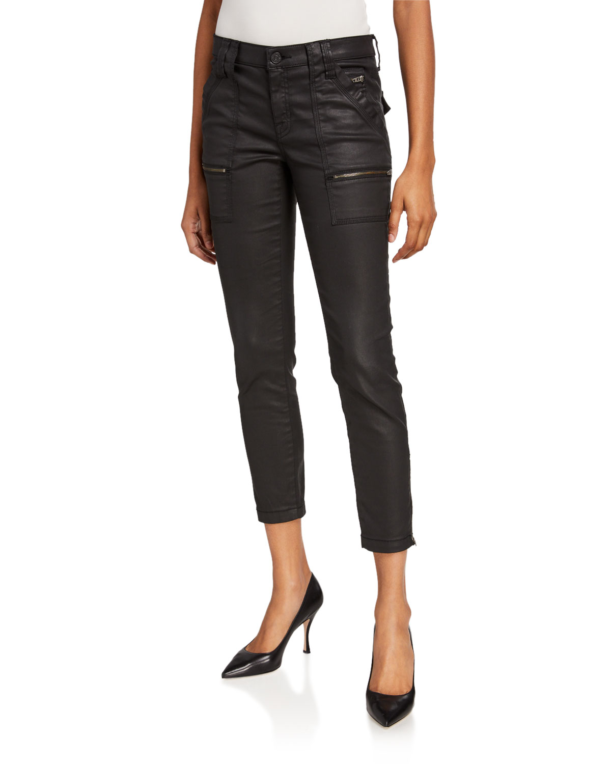 Joie Jeans PARK COATED SKINNY JEANS