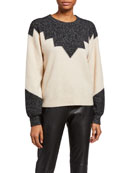 Joie Zinca Colorblock Wool Sweater