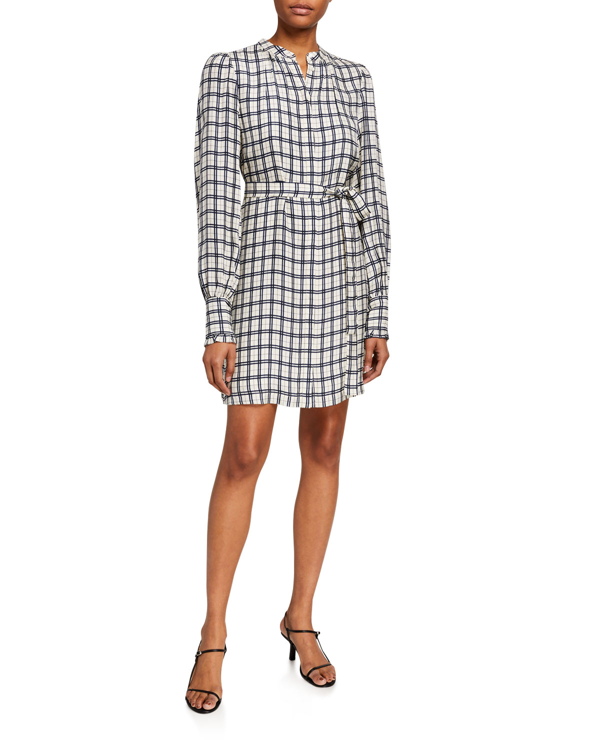 Joie Dresses BLANDINA CHECKED SHIRTDRESS