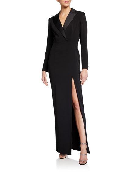 Jay Godfrey Piper Tuxedo Column Gown