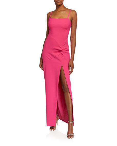 Likely Kiara Side-Drape Slip Gown