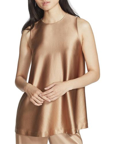 Zorianna Reverie Satin Cloth Sleeveless Blouse