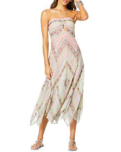 Luella Striped Halter Dress