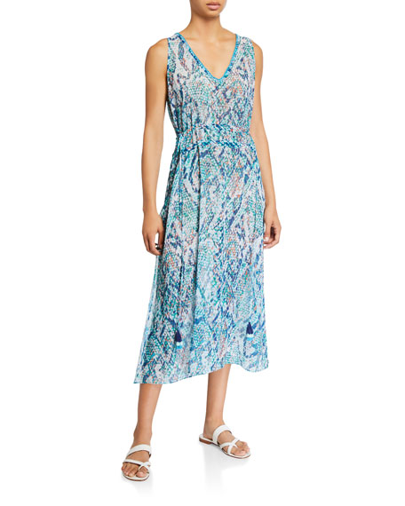 Ramy Brook Aleena Viper Print Dress