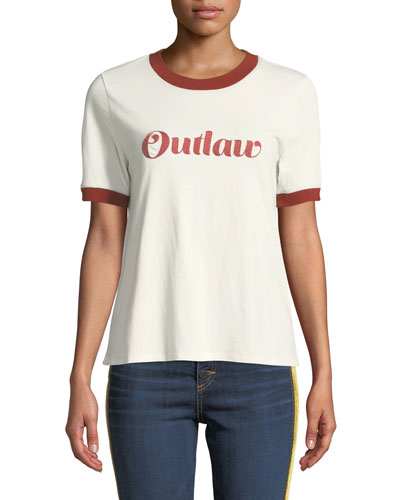 Mills Outlaw Crewneck Cotton Jersey Ringer Tee