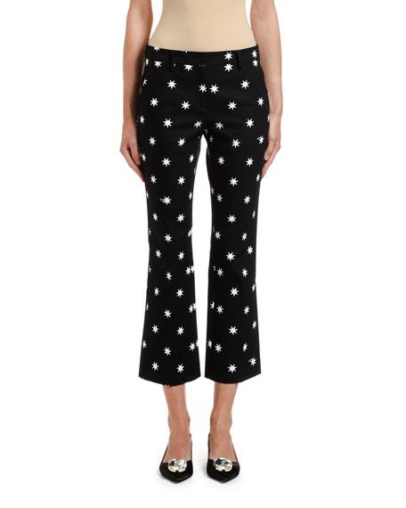 No. 21 Star-Print Cropped Pants