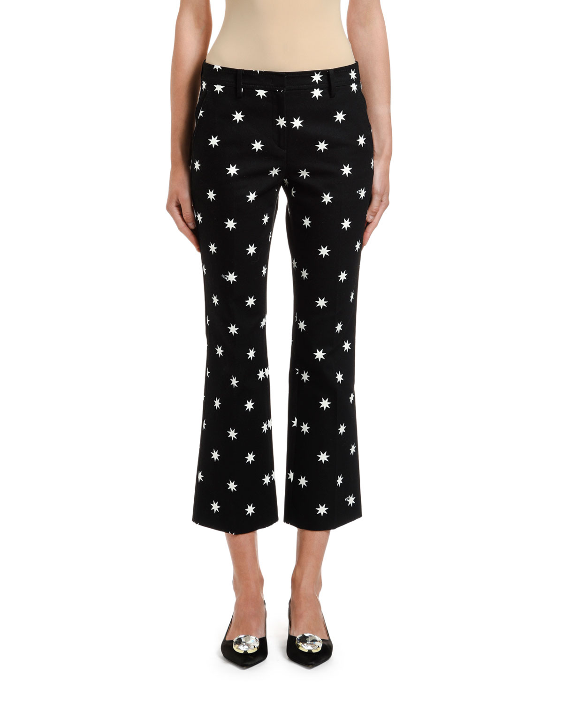 N°21 Pants STAR-PRINT CROPPED PANTS