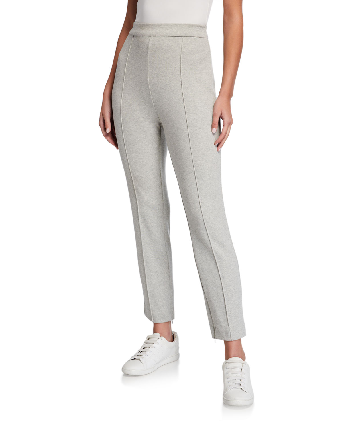 Joan Vass PETITE STITCHED SEAM ANKLE PANTS