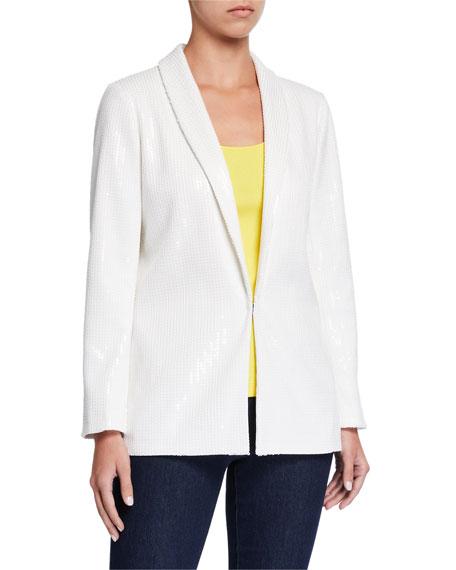 Joan Vass Classic Sequined Jacket