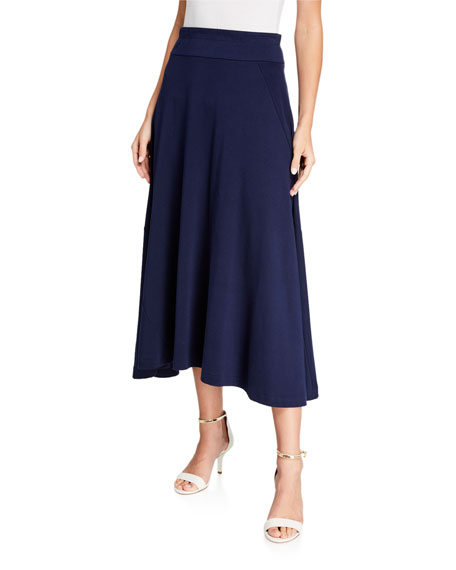 Joan Vass Petite Long Skirt