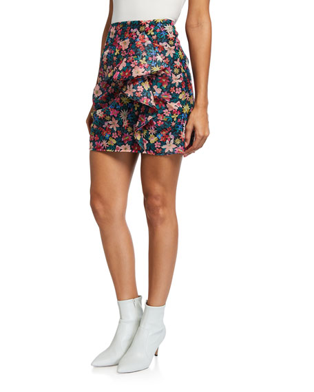 C/MEO And Ever More Floral Mini Skirt