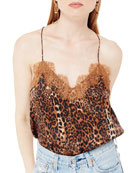 Cami NYC The Racer Charmeuse Animal Print Camisole