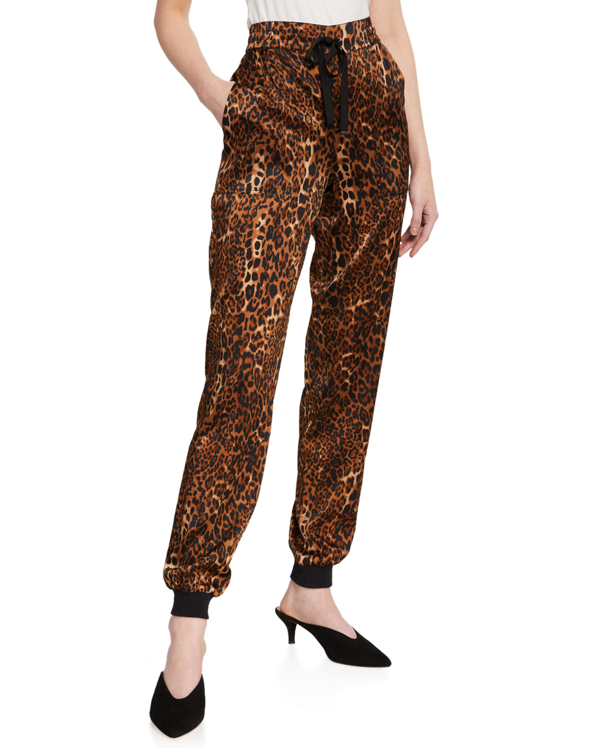 Cami Nyc Pants THE ZOE ANIMAL PRINT JOGGER PANTS