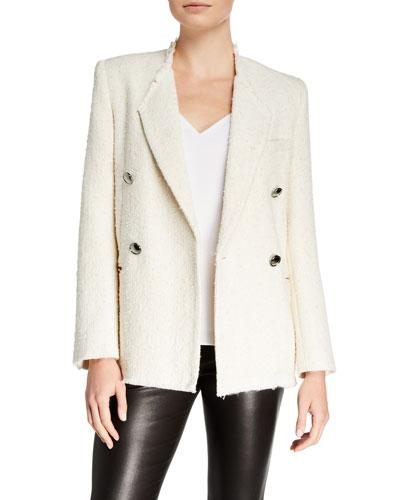 Ikaria Double-Breasted Tweed Jacket