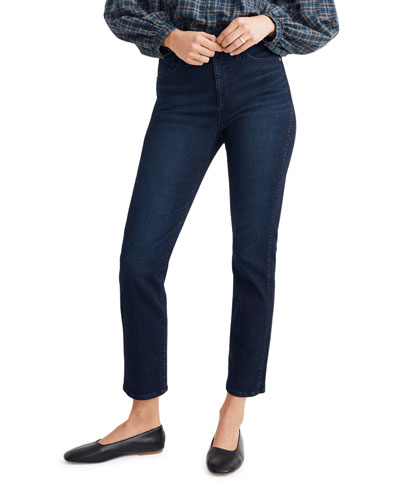 High-Rise Cropped Stovepipe Jeans