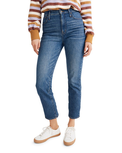 Classic High-Rise Cropped Straight Jeans