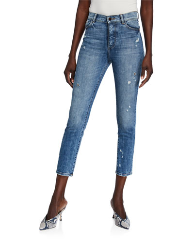 Farrow Cropped Vintage High Rise Skinny Jeans