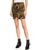 Hudson Camo-Print Utility Skirt