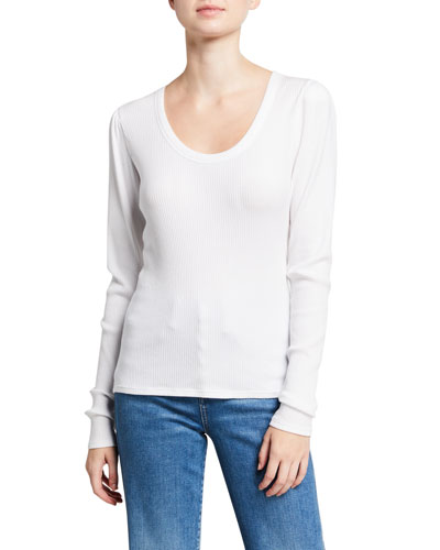 Newport Scoop-Neck Long-Sleeve Top