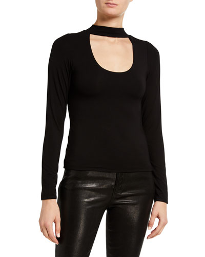 Long-Sleeve Keyhole Top - Inclusive Sizing