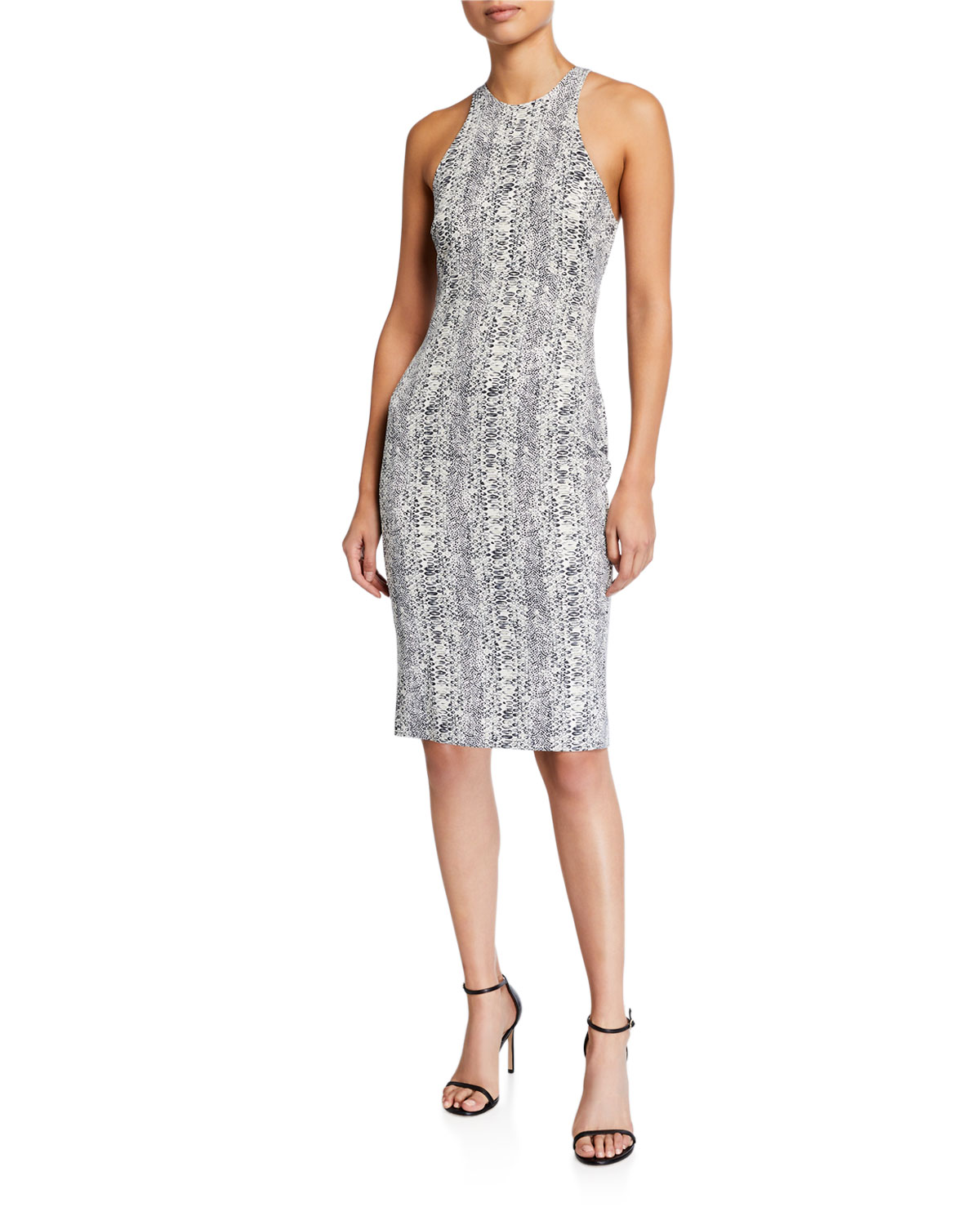 Likely Dresses SIMONS PYTHON-PRINT BODYCON COCKTAIL DRESS