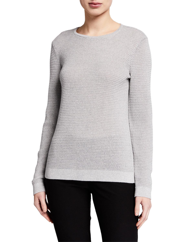 Eileen Fisher Sweaters PLUS SIZE MERINO WOOL SPARKLE CREWNECK SWEATER