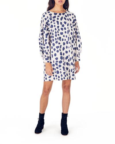 Jude Printed Long-Sleeve Organic Cotton Dress
