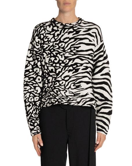 Proenza Schouler White Label Animal Jacquard Sweater