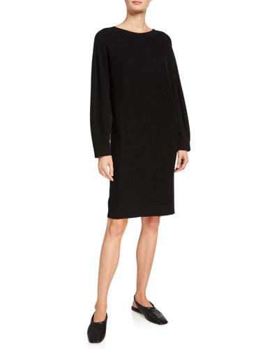 V-Back Dolman-Sleeve Shift Dress