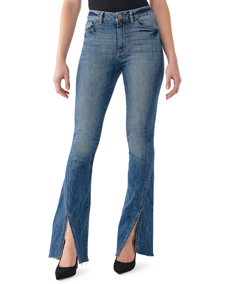 DL1961 Premium Denim Bridget High-Rise Boot-Cut Jeans