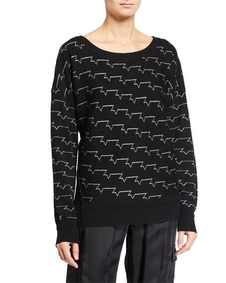 Zadig & Voltaire Anouk Metallic Pullover Sweater