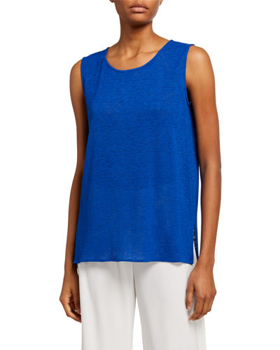 Petite Gauze Knit Longer Tank
