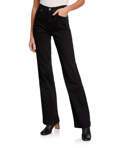 Alexa Straight-Leg Denim Trousers