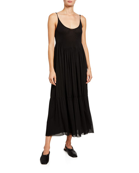 Vince Gathered Cami Long Dress