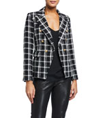 Generation Love Alexa Double-Breasted Tweed Jacket
