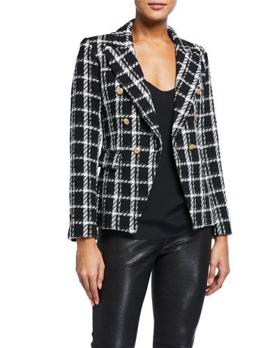 Alexa Double-Breasted Tweed Jacket