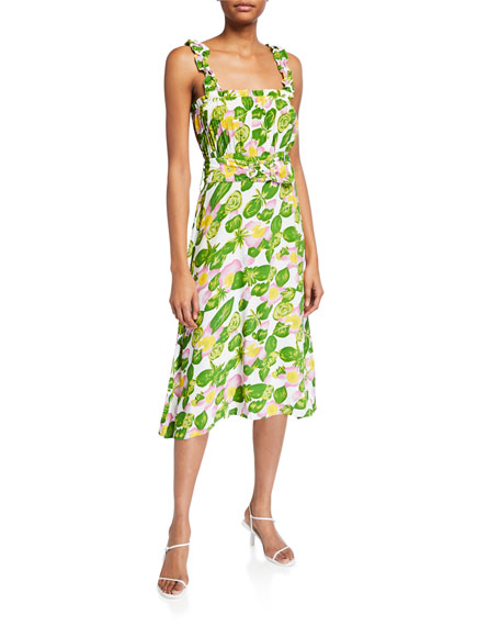 Faithfull the Brand Mae Floral Sleeveless Midi Dress