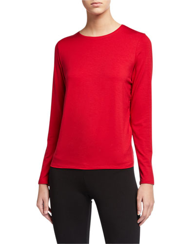 Plus Size Jersey Long-Sleeve Tee