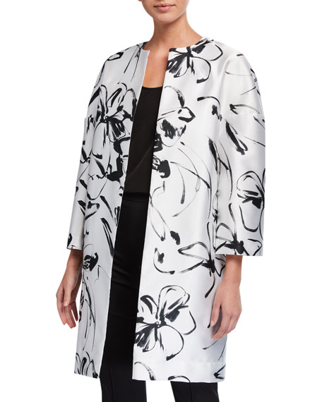 Caroline Rose Classic Floating Floral Jacket