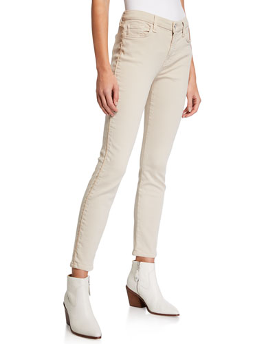 Ankle Skinny Jeans with Gold Piping