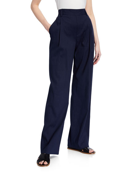 Vince Pleated Front Pull-on Pants