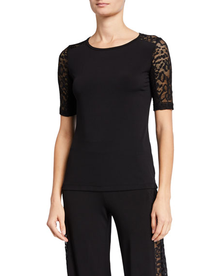 Anatomie Orly Lace-Sleeve Top